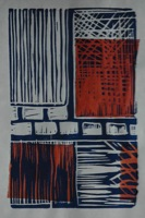 Linoleum Print with Cincole 1 and 2